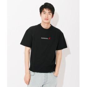 KANGOL ロゴ刺繍Tシャツ ユニセックス ブラック