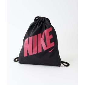 NIKE ロゴ入りジムバッグ キッズ ブラック*ピンク