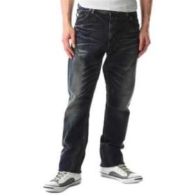 BIG JOHN 「CHILLING」ロークロッチストレートパンツ メンズ 濃加工色