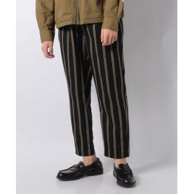 LiFESiZE ストライプワイドパンツ メンズ ブラック XL 【LiFESiZE】