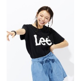 Lee ロゴプリント入りクルーネックTシャツ レディース ブラック