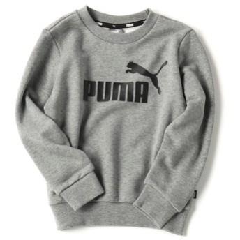 PUMA ロゴプリントトレーナー キッズ グレー