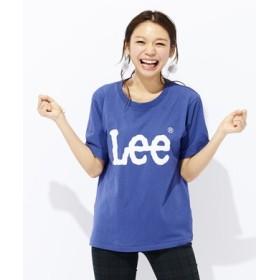 Lee ロゴプリント入りクルーネックTシャツ レディース *パープル