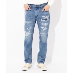 Lee 【WEB限定】「SLIM RIDER SLIM JEAN」リメイク加工デニムパンツ メンズ 淡加工色