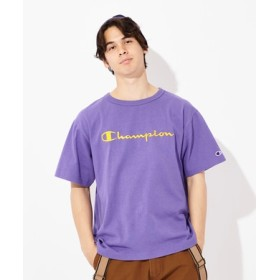 Champion ビッグ刺繍ロゴショートスリーブTシャツ メンズ ライラック
