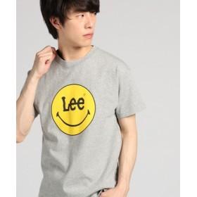 Lee 【WEB限定】スマイリープリントTシャツ メンズ グレー
