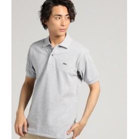 LACOSTE ワンポイントベーシックポロシャツ メンズ グレー