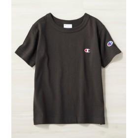 Champion ワンポイントロゴクルーTシャツ キッズ ブラック