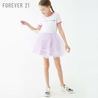 FOREVER21 フォーエバー21 【[KIDS]Be YourselfリンガーTシャツ】(5,000円以上購入で送料無料)