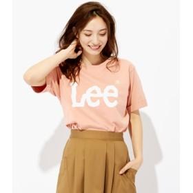 Lee ロゴプリントTシャツ レディース ピンク