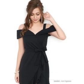 ドレス - Retica Tikaholic ティカホリック ウエストリボンタイトドレス (ホワイト/レッド/ブラック) (Mサイズ) かわいい キュートふわふわ レディース 上品 フェミニン きれいめ パーティー ワンピース キャバ キャバ嬢
