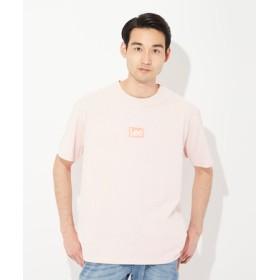 Lee ボックスロゴTシャツ メンズ ピンク