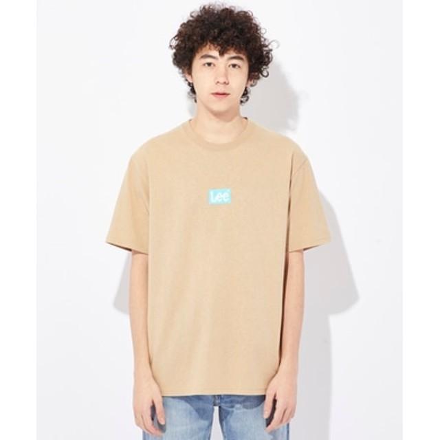 Lee ボックスロゴTシャツ メンズ ベージュ