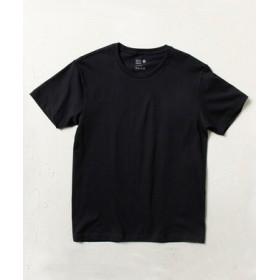 BASIC INNER 【綿100%】クルーネック天竺Tシャツ メンズ ブラック