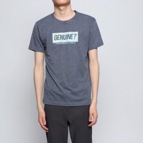 スタイルブロック STYLEBLOCK ボックスロゴプリントクルーネック半袖Tシャツ (杢ネイビー)