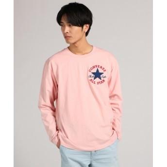 CONVERSE ロゴ入り長袖Tシャツ メンズ ピンク