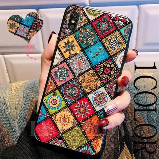 iphone6 7 8 plus アイフォン ケース i Phone ボヘミアン 柄 民族柄 ケータイカバー スマホケース VIVISHOW