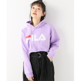BOICE FROM BAYCREW'S FILA Short pull over hooded パープル B M