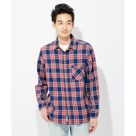 BACK NUMBER インディゴチェックシャツ メンズ レッド