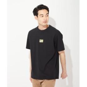 Lee ボックスロゴTシャツ メンズ カーキ*ブラック