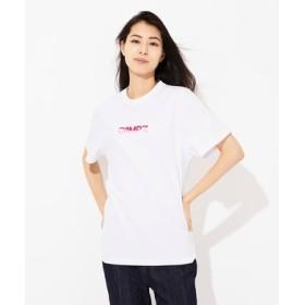 CAMP7 配色ロゴプリントTシャツ レディース オフシロ