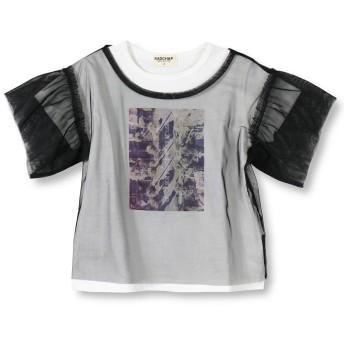 【40%OFF】 ブランシェス チュール重ねTシャツ(80~140cm) レディース ブラック 80cm 【branshes】 【セール開催中】