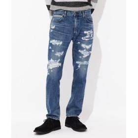 Lee 【WEB限定】「SLIM RIDER SLIM JEAN」リメイク加工デニムパンツ メンズ 中濃加工色