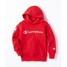 Champion 【WEB限定】スクリプト袖ロゴパーカー キッズ レッド