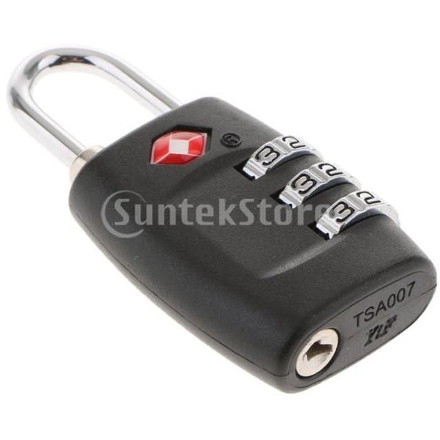 3桁の組み合わせの南京錠が承認されたトラベルスーツケースのロックTSA335