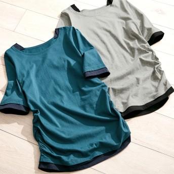 Viola e Viola 綿100%レイヤード風Tシャツ レディース
