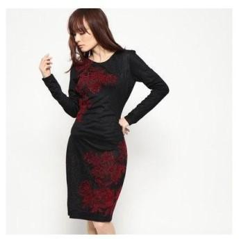 デシグアル Desigual ドレス長袖 (グレー/ブラック)