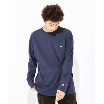 Champion 【WEB限定】ロングスリーブTシャツ メンズ ネイビー