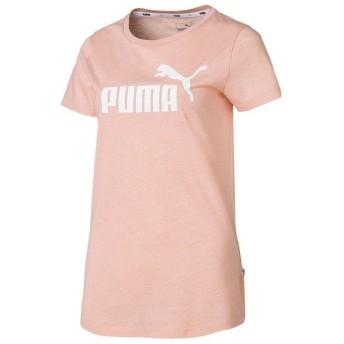 (セール)PUMA(プーマ)レディーススポーツウェア Tシャツ ESS+ NO.1 ロゴ ヘザー SS Tシャ 85386919 レディース ピーチ バッドヘザー