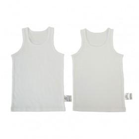 ベビーザらス限定 2P袖なしシャツ肌着抗菌防臭(ホワイト×90cm)