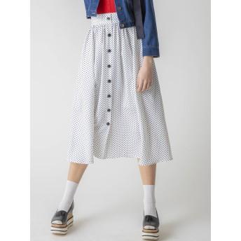[dazzlin]フロントボタンマキシスカート