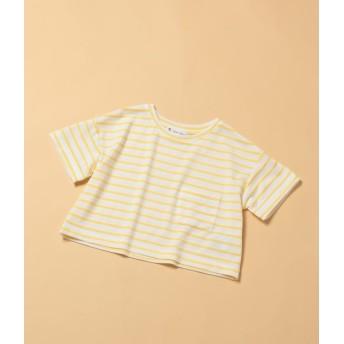ロペピクニック キッズ/【ROPE' PICNIC KIDS】ボーダーTシャツ/イエロー/120