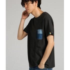 KRIFF MAYER 【WEB限定】デニムポケット付きTシャツ メンズ ダークグレー