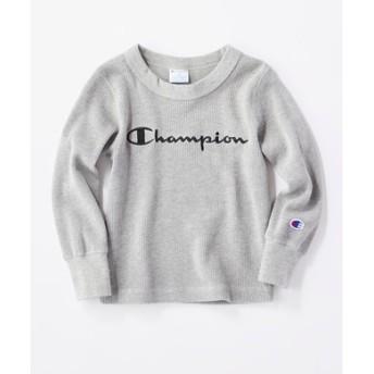 Champion 【WEB限定】スクリプトロゴプルオーバー キッズ グレー