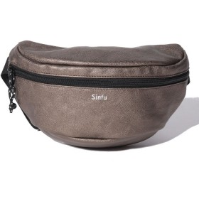 And A SINFU/シンフ fake leather moon waist bag/フェイクレザー ムーン ウエスト ポーチ バッグ レディース ブロンズ F 【And A】