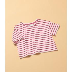 ロペピクニック キッズ/【ROPE' PICNIC KIDS】ボーダーTシャツ/レッド/130