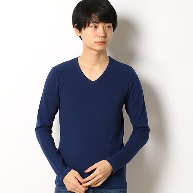 [マルイ]【セール】スパンフライス長袖VネックTシャツ/アドポーション(ADOPOSION)