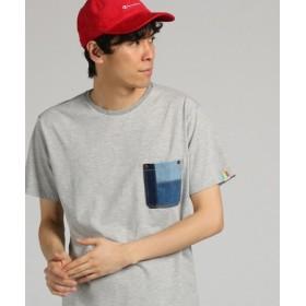 KRIFF MAYER 【WEB限定】デニムポケット付きTシャツ メンズ グレー