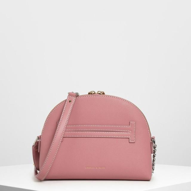 チェーンストラップ クロスボディバッグ / Chain Strap Crossbody Bag (Pink)