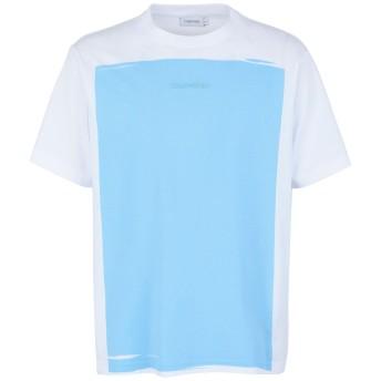 《期間限定セール開催中!》CALVIN KLEIN メンズ T シャツ ホワイト L コットン 100%