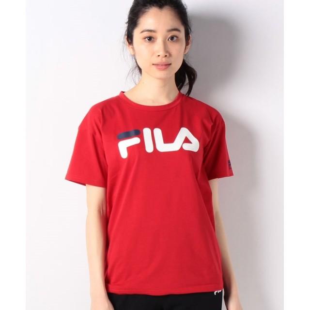 フィラ ベーシック半袖Tシャツ レディース レッド M 【FILA】