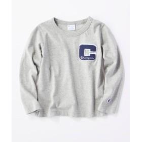 Champion 【WEB限定】バックプリントTシャツ キッズ グレー
