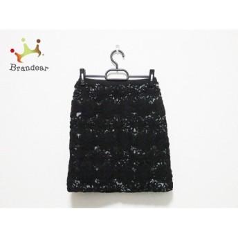 アプワイザーリッシェ Apuweiser-riche スカート サイズ2 M レディース 黒×ライトグレー 花柄 スペシャル特価 20190615