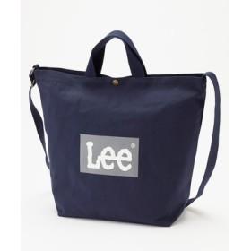 Lee ロゴ2wayショルダートートバッグバッグ ネイビー