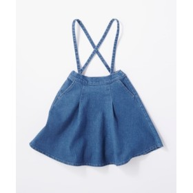 BACK NUMBER サスペンダー付きスカート キッズ 中濃加工色