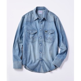 Wrangler 【WEB限定】デニムウエスタンシャツ メンズ 淡加工色